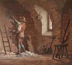 18th century plasterer at work