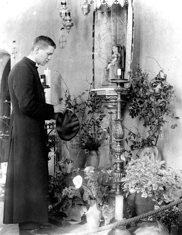 Father Bruno Scott James in 1939