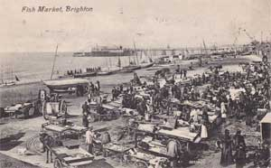 The fish market on the beach at Brighton