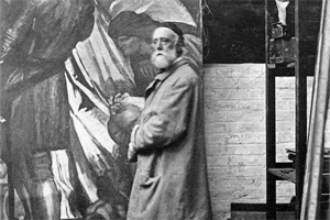 George Watts at his easel