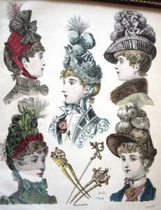 Ladies hats 1880's