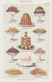 Desserts illustrated in Mrs Beeton's Book of Household Management