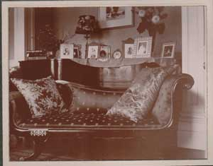 Chaise longue in one of the formal rooms