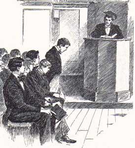Schoolboys in class