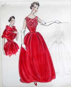 Stiebel couture design early 1960s