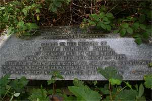 Grave stone of William Dunkley Paine son of Cornelius Paine