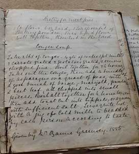 My great grandmother's cookery book. This recipe dated 1864
