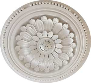 Ceiling rose in the main front room, ground floor