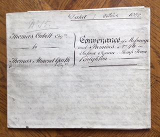 Conveyance Thomas Cubitt to Almond Garth 1 October 1855