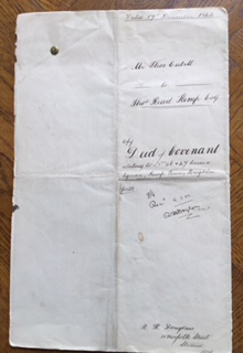 Deed of Covenant Kemp to Cubitt (copy)