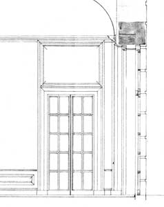 Detail from elevation for new dining room
