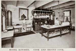 Kitchen and cooks