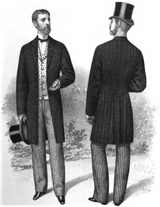 Men's clothes in 1880