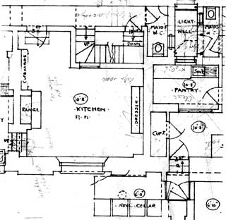 Detail of part of the basement plan. Click to see the entire drawing