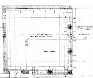 Plan detail for open air dining room. Click to see entire drawing.