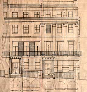 Detail of front elevation Click to see the entire drawing.