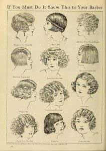 a variety of shingled hair styles