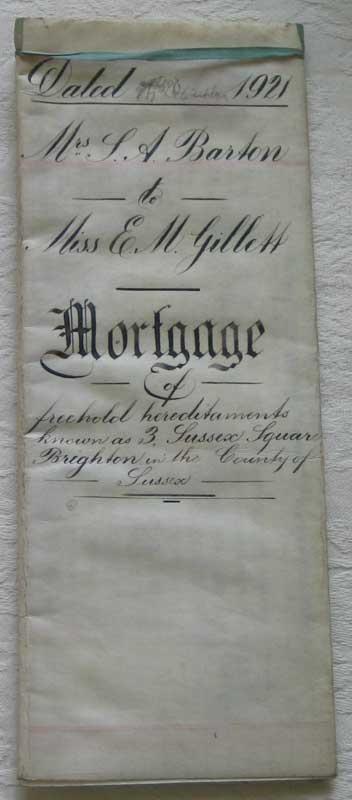 Mortgage 1921