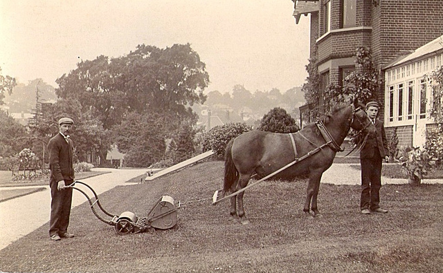horse_drawn_lawn_mower
