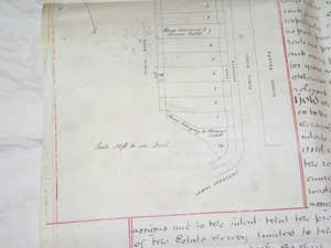 Part of a document showing Cubitt's ownership of No 7.